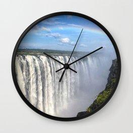 Victoria Falls , Africa, Zambia, Zimbabwe Wall Clock