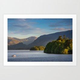 Lake Derwentwater in the Lake District, England Art Print