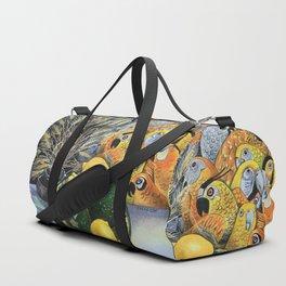 Yellow Parrots Duffle Bag