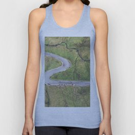 Hairpin bends on Glengesh Pass, Donegal Unisex Tank Top