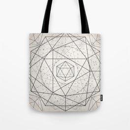 Icosahedron Mandala Tote Bag