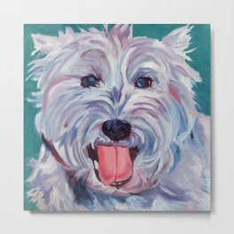 The Westie Kirby Dog Portrait Metal Print