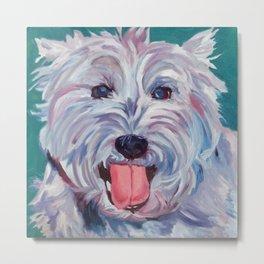 The Westie Kirby Dog Portrait Metal Print
