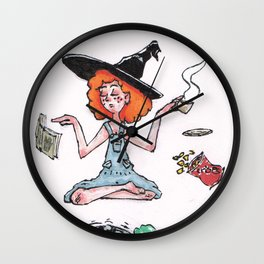 Witchy Multitasking Wall Clock