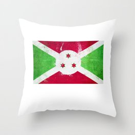 Burundi Flag design   Burundian design Throw Pillow