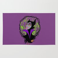 maleficent Area & Throw Rugs featuring Maleficent by IrisBlue