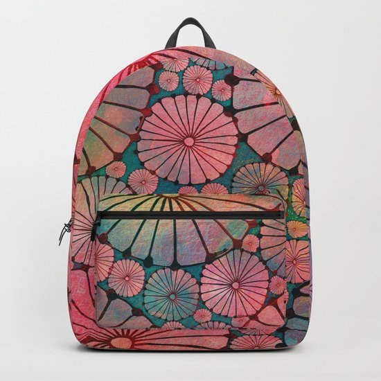 Abstract Floral Circles Backpack