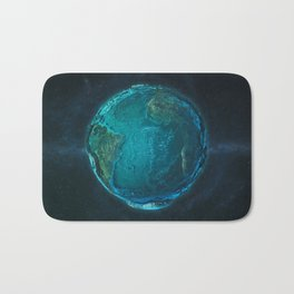Globe: Relief Atlantic Bath Mat