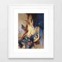 inner demons Framed Art Prints featuring Demons by Drew Young