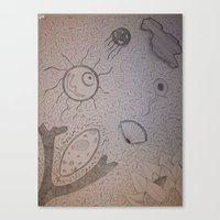 biology Canvas Prints featuring Organic Biology by Design Gregory