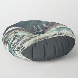 -Caravan Dali- GREEN Floor Pillow