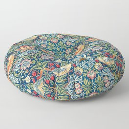 Strawberry Thief by William Morris Floor Pillow