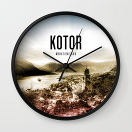 Kotor Wallpaper Wall Clock