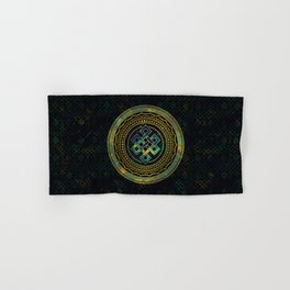 Marble and Abalone Endless Knot  in Mandala Decorative Shape Hand & Bath Towel