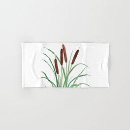 cattails plant Hand & Bath Towel