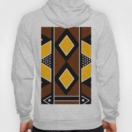 African Mudcloth Fabric Hoody