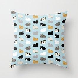 Cat Loaf Print Throw Pillow