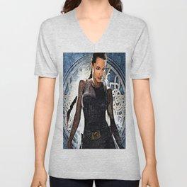 Angelina Jolie as Lara Croft Unisex V-Neck