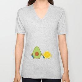 Avocado & Lemon Unisex V-Neck