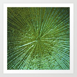 Emerald Ripple Art Print