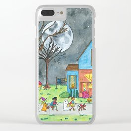 Trick or Treat Clear iPhone Case