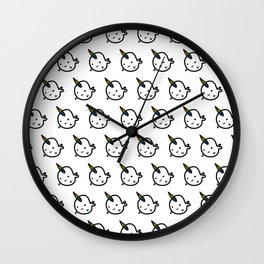 RAINBOW BUDDY NARWHALS Wall Clock