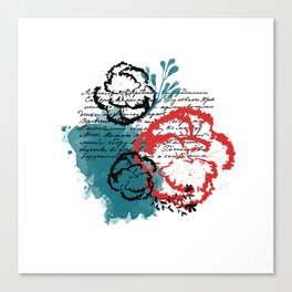 Carnation - Art Design Canvas Print
