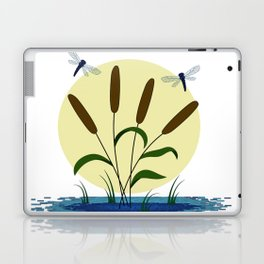 Cattails and Dragonflies Laptop & iPad Skin