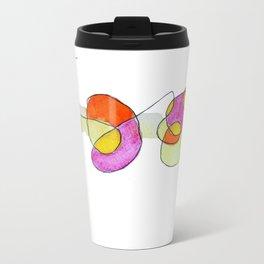 Garabatos naranjas y lilas Travel Mug