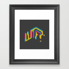 F*** The What? Framed Art Print