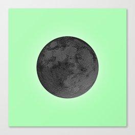 BLACK MOON + LIME GREEN SKY Canvas Print