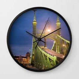 Budapest Bridge Wall Clock