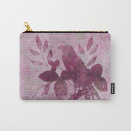 Floral Bird Illustration Carry-All Pouch
