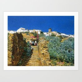 Classical Masterpiece 'Church Procession, Spain, Spanish Steps' by Frederick Childe Hassam Art Print