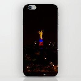 Virgen del panecillo iPhone Skin
