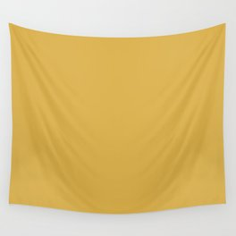 Sherwin Williams Trending Colors of 2019 Nugget (Golden Yellow) SW 6697 Solid Color Wall Tapestry