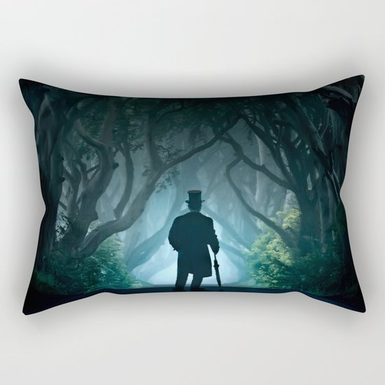 Morning visit in cold Dark Hedges Rectangular Pillow