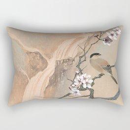 Cherry Tree And Two Birds Rectangular Pillow
