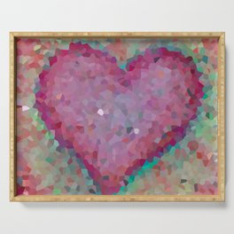 Pink heart. Abstract. Big pink heart Serving Tray
