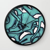 the xx Wall Clocks featuring xx by Ela Caglar
