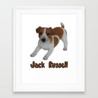 jack russell Framed Art Prints featuring Jack Russell!  by Al's Visions
