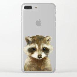 Little Raccoon Clear iPhone Case