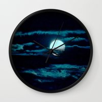 howl Wall Clocks featuring Howl by Lunar Eclipse