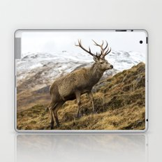 Royal Red Deer Stag in Winter Laptop & iPad Skin