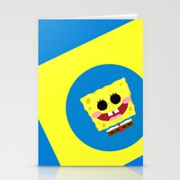 spongebob Stationery Cards featuring Spongebob Squarepants by Eyetoheart
