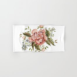 Pink Wild Rose Bouquet Hand & Bath Towel