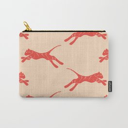 electric tiger in coral and peach Carry-All Pouch