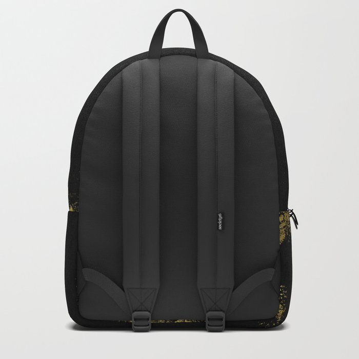 Black and Gold grunge modern abstract background I Backpack