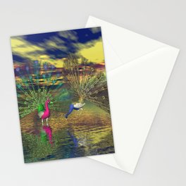 Pfauenpaar Stationery Cards