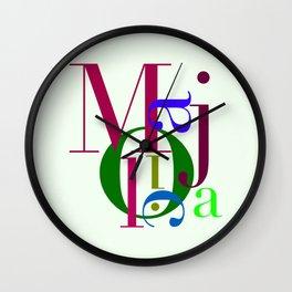 M-A-J-O-L-I-C-A Wall Clock